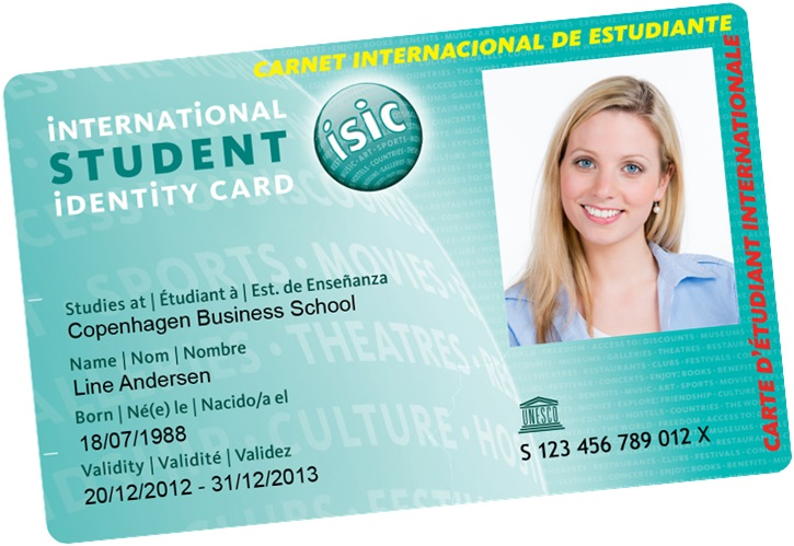 ISIC UK Student discount card