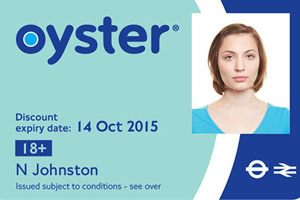 Oyster UK student Discount card